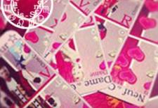 Le jeu de 32 cartes  jouer : 'La famille des cœurs'