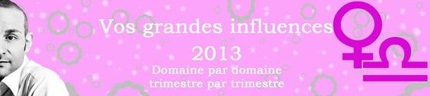 BALANCE VOS INFLUENCES 2013