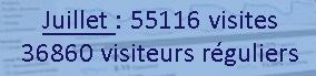 Fréquentation du site. Nombre de visiteurs en Juillet 2014