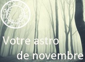 Votre horoscope du mois de novembre 2014