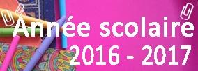 Année Scolaire 2016 - 2017