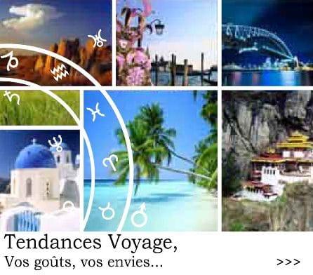 Tendances voyages, les grandes destinations de votre signe